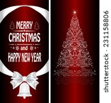 christmas card with a christmas ... | Shutterstock .eps vector #231158806