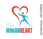 red heart   vector logo... | Shutterstock .eps vector #231159856