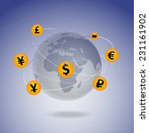 national currencies of some... | Shutterstock .eps vector #231161902