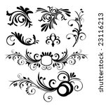 floral ornaments 7 | Shutterstock .eps vector #23116213