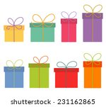 colorful presents isolated on... | Shutterstock .eps vector #231162865