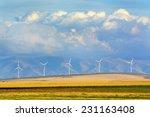 detail of windmills on wind... | Shutterstock . vector #231163408