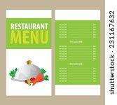 restaurant menu design template   Shutterstock .eps vector #231167632