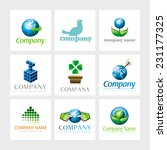 set of 9 vector elements for... | Shutterstock .eps vector #231177325