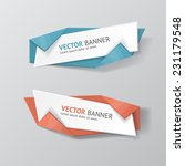 vector infographic origami... | Shutterstock .eps vector #231179548