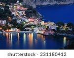 assos village  kefalonia  night ... | Shutterstock . vector #231180412