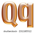 3d big and small q gold... | Shutterstock . vector #231185512