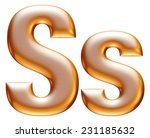 3d big and small s gold...   Shutterstock . vector #231185632