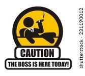 boss warning sign | Shutterstock .eps vector #231190012