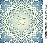 vector card with beautiful... | Shutterstock .eps vector #231190462