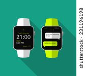 flat smart watch  concept with... | Shutterstock .eps vector #231196198