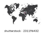 a map of the world with a... | Shutterstock .eps vector #231196432