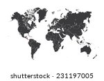 a map of the world with a... | Shutterstock .eps vector #231197005
