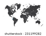 a map of the world with a... | Shutterstock .eps vector #231199282
