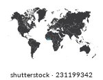 a map of the world with a... | Shutterstock .eps vector #231199342