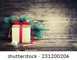 christmas present with candy... | Shutterstock . vector #231200206