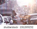traffic congestion asia | Shutterstock . vector #231205252