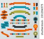 stylish ribbon banners  | Shutterstock .eps vector #231206575