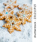 gingerbread snowflakes | Shutterstock . vector #231211915