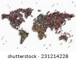 illustration of a world map... | Shutterstock . vector #231214228
