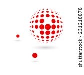 red dotted sphere. connection... | Shutterstock .eps vector #231218878