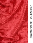Shiny red fabric background texture - stock photo
