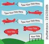 plane banners | Shutterstock .eps vector #231233686