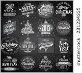 christmas set   labels  emblems ... | Shutterstock .eps vector #231234325