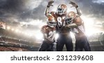american football players in... | Shutterstock . vector #231239608