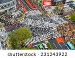 Tokyo  Japan View Of Shibuya...