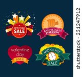 various colorful banner and... | Shutterstock .eps vector #231247912