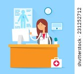 medical concept   doctor... | Shutterstock .eps vector #231252712