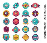 school badge banner design flat ... | Shutterstock .eps vector #231253006