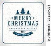 christmas background vector... | Shutterstock .eps vector #231269215