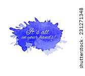 vector blot watercolor with... | Shutterstock .eps vector #231271348