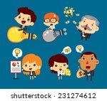 group cartoon business people... | Shutterstock .eps vector #231274612