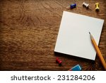 stack of small square blank... | Shutterstock . vector #231284206