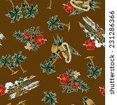 pattern of hibiscus | Shutterstock . vector #231286366