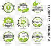 set of fresh organic labels and ... | Shutterstock .eps vector #231286456