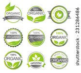 set of fresh organic labels and ... | Shutterstock .eps vector #231286486