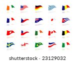 flags of the world | Shutterstock .eps vector #23129032