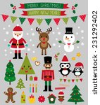 christmas vector characters and ... | Shutterstock .eps vector #231292402