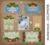christmas vintage labels set....   Shutterstock .eps vector #231294058