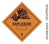 hazardous pictogram | Shutterstock .eps vector #231299416