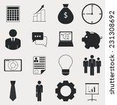 business icons. vector set ... | Shutterstock .eps vector #231308692
