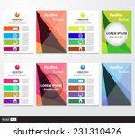 set of flyer  brochure design...   Shutterstock .eps vector #231310426