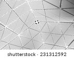 abstract perforated white... | Shutterstock . vector #231312592