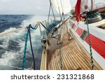 sail boat navigating on the... | Shutterstock . vector #231321868