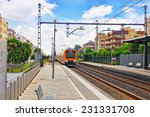 Suburban Railway Train At The...