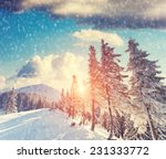 majestic mountain landscape... | Shutterstock . vector #231333772